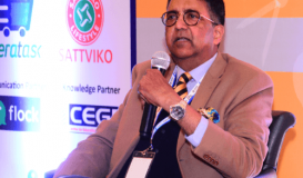 Mr Abhay on a panel discussion at the 6th Higher Education Summit.